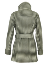 WOMENS PARICIAN  HOUNDSTOOTH WOOL COAT