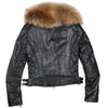 High Quality Genuine Sheepskin Leather Jacket Women  Raccoon Super Large Fur Collar Yellow Black Red Slim Leather Coat