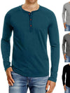 Spring Autumn Long Sleeve T-Shirt Fashion Men Tee Casual Basic