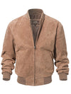 ASHORESHOP Men Classic 100% Real Pigskin Suede Coat Genuine Baseball Bomber Leather Jacket XXXL