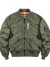 ASHORESHOP autumn solid air force Mens pilot jacket