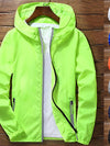 Men's Windbreaker Jackets Reflecting Zip Thin Coat 2020 Spring Autumn Sport Outdoor Jackets