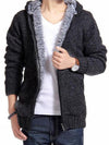 Mens Sweater Coat Pile Lining Super Warm Men Sweater