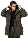 Men's Vintage Trench Coat Classic Wadded 101st Airborne Force Parka Jacket Coat