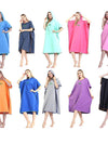 Outdoor Bath Towel Hooded Robe Poncho Quick Dry Swimming Bathrobe