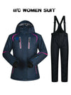 Women Ski Suit Winter Snow Ski Suit Set Thick Waterproof Ski Jacket and pants Set