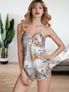 Indoor Pajama Women Sexy Lingerie Set Summer Sleepwear