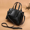 Women bag 2020 new wild leather handbag fashion small bucket bag shoulder messenger bag 				 							        							-Leather-Fashion atmosphere retro leather handbag