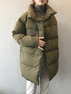 Ashoreshop Women Amy Green Oversize Long Parkas Thick 2020 Winter