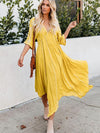 Aline Sundress sexy deep v neck midi dresses women 2021