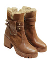 Womens Tibet Horse Riding Short Boots Winter short Leather boots