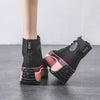 Womens High platform canvas shoes ankle boots winter boots