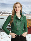 Autumn 2019 Faux Pu Leather Jacket Women Motorcycle Faux Soft Leather Jacket