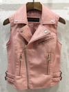 ashoreshop women pu leather vest hip short vest women leather vest pink