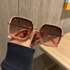 2020 new retro big frame square brown sunglasses