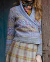 Womens Sweater Cardigans Vintage Shawl Collar Knitted Sweater Outerwear