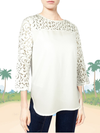 ASHORE WOMENS ELEGANT SHOULDER COTTON LACE BLOUSE
