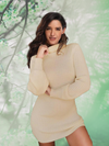 ASHORESHOP 2019  Womens Casual Long Sleeve Jumper Turtleneck Sweaters Dress