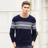 Men Chest Stripes Fine Quality  Pullovers Sweaters