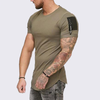 ASHORESHOP hip hop summer men cotton t shirt Longline curved hem