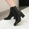 Women Fall Winter Ankle Boots Square Heel and Point Toe Hot Sale