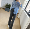 Autumn and winter new 100% pure cashmere pants women lazy loose loose casual knitted wide leg pants wear high waist pants