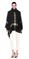 WOMENS PLAID SWEATER PONCHOS IN THREE COLORS