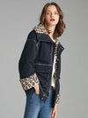 Winter padded jacket women Leopard Fur Lining Jackets