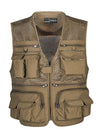 ASHORESHOP Men's Vest Tactical Webbed Gear Vest Summer Photographer Waistcoat