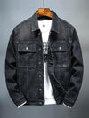 Men's Denim Jacket Warm Winter Casual Bomber cowboy Jacket