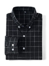 ASHORESHOP Men's Plaid Flannel Shirt Classic Pin Stripe and Plaid Dress Shirts
