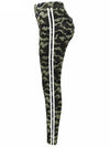 ASHORESHOP Women Skinny Cotton Camo Stretch Jeans with Stripes and Blocks