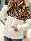 ASHORESHOP 2019 Women Leopard  Faux Fur Sweatshirt Berber Fleece Jacket