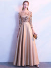 ASHORESHOP Party Dress A Line Sequin Golden Evening Dress