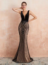 Mermaid Women Evening Dress Elegant Black Long Luxury Evening Gown Formal Party Prom Dresses 2019 Vestidos De Gala