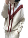 ASHORESHOP Women cashmere hoodie Sweater women Pull Over Sweater