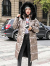 ASHORESHOP Winter Warm Thicken Faux Fur Coats Silver Down Jacket Parker