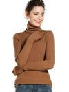 ASHORESHOP turtleneck Slim Fit sweater women's base wool pullover Super Long Hand Cover Sleeve