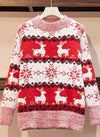 Snow Flake Sweater ASHORESHOP Holiday 2020 Womens Winter Sweater Snow Flake Red Pull Over Sweaters