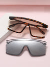ASHORESHOP Plastic Goggle Oversized Women Sunglasses Square Brand