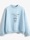 ASHORESHOP Women Spring Easy Crew Neck Sweatshirt