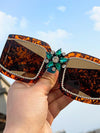 Vintage Rhinestone sunglasses ladies luxury brand mirror sunglasses