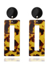 Fashion Vintage Acrylic Leopard Dangle Earrings For Women