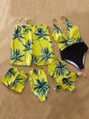 ASHORESHOP Hot sale family swimwear palm tree matching swimsuit