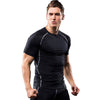 Male Quick Dry Tshirt Breathable Stretch Fitness Tights Muscle Tees