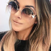 Ashoreshop Womens  Oversized Round Sunglasses