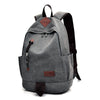 Men Rugged Canvas Backpacks Large Travel Laptop Backbag