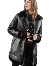 High Quality Faux Sheepskin Shearling Coat Winter Women Fur Long Lamb Thick Coat