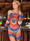 Women Beach Cover Up Sexy Crochet Hollow Out Swimwear