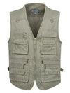 ASHORESHOP Mens Recreation Sport Utility Vest 16 Pockets 5XL 6XL 7XL